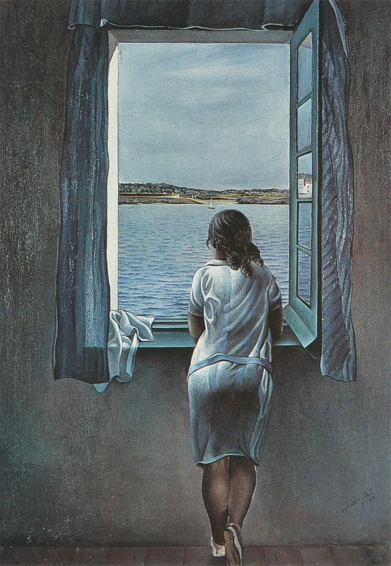 Dalí - Muchacha a la ventana
