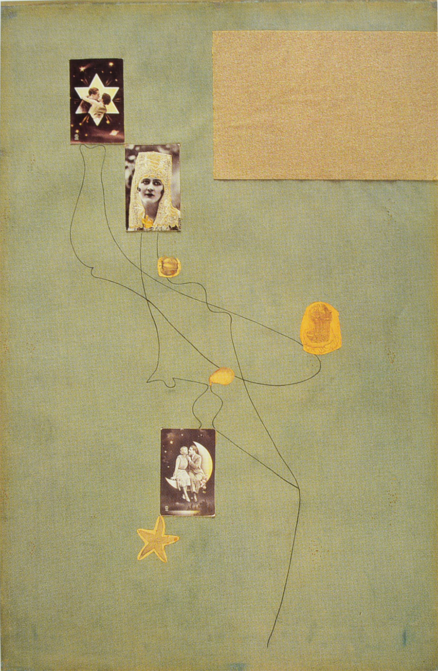 Miró - Dibujo-collage