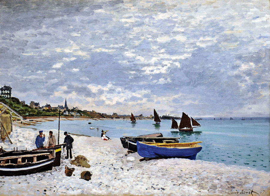 Claude Monet - La playa de Sainte-Adresse