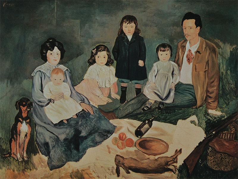 Pablo Picasso - La familia Soler