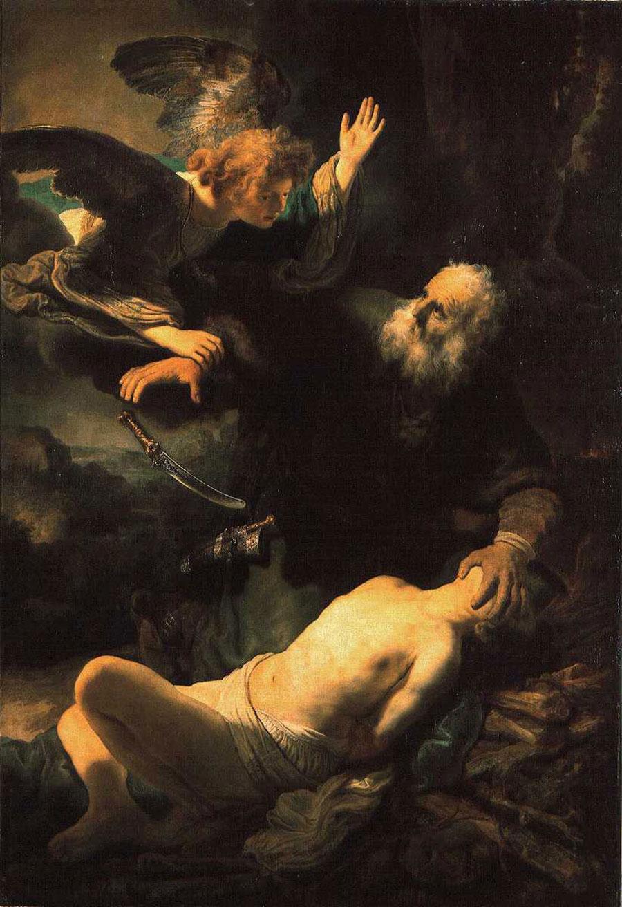 Resultado de imagen de sacrificio de isaac rembrandt