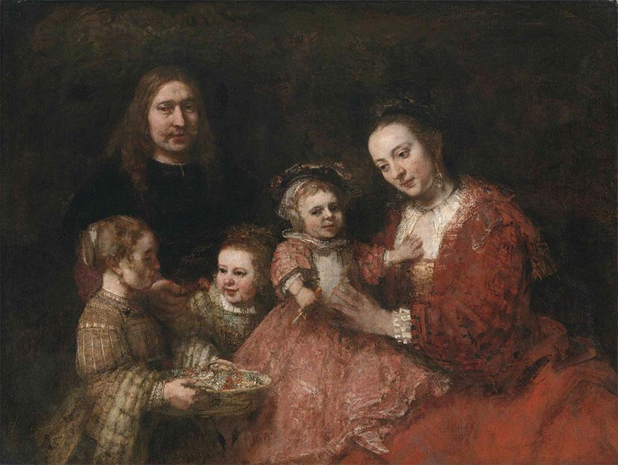 Rembrandt - Retrato de familia